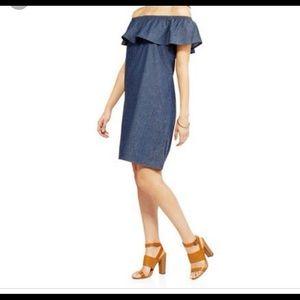 Denim off shoulder dress XL 16/18 summer dress
